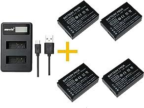 4 Piezas 1200 mAh LP-E12 LPE12 Batería con Cargador de