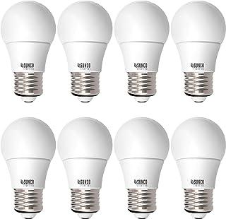 Sunco Lighting 8 Bombillas LED A15, 8 W = 60 W, 2700 K, luz blanca suave, regulable, 800 lm, base E26, luz para refrigerad...