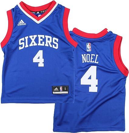 Amazon.com : adidas Philadelphia 76ers Nerlens Noel # 4 NBA Kids ...