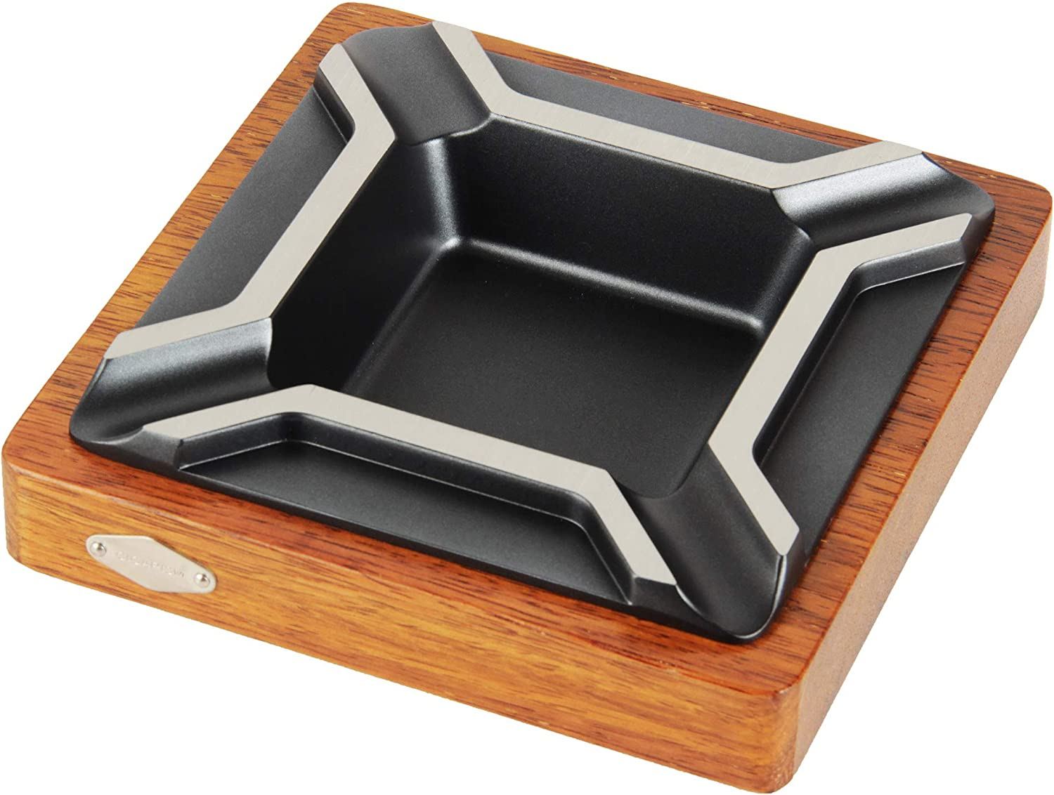 CIGARISM Large Raleigh Mall Square Merbau Zinc Decoration Cigar Max 78% OFF Alloy Ashtray