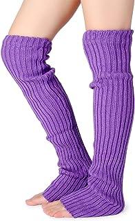 Pareberry Women's Winter Over Knee High Footless Socks Knit Warm Long Leg Warmers