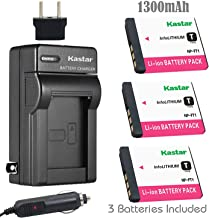 Kastar Battery 3-Pack and Charger for Sony NP-FT1 DSC-L1 DSC-L1/B DSC-M1 DSC-M2 DSC-T1 DSC-T3 DSC-T3/B DSC-T3S DSC-T5 DSC-T5/B DSC-T5/N DSC-T9 DSC-T10 DSC-T10/B DSC-T10/P DSC-T10/W DSC-T11 DSC-T33