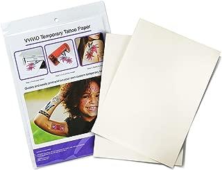 VViViD Inkjet Printable Temporary Rub-On Tattoo Paper 2-Sheet Pack