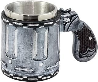 Ebros Gift Western Revolver Gun Pistol Barrel Case Mug Beer Stein Tankard Coffee Cup 6.75