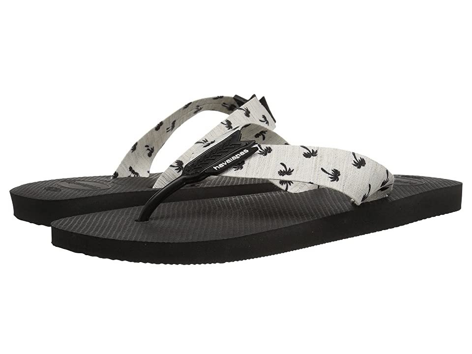 Havaianas Urban Series Flip Flops (Black/White) Men