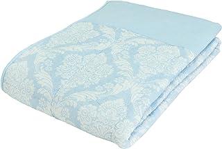 東京西川 肌掛け布団 ブルー シングル 洗える ムレにくい 吸水性 速乾 綿100% やわらかガーゼ AE09000590B