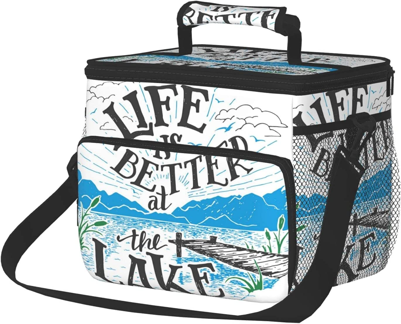 Insulated Lunch Box Reusable Tote Be Bag Life Large Bombing free shipping Excellent Is