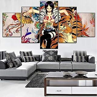 XIAYF Anime One Piece Robin Impression sur Toile Intissee (Cadre 150x80cm) 5 PièCes Posters arts Décoratifs Hd, Salon Cha...