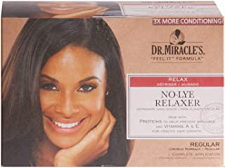 Dr. Miracle's No-Lye Relaxer, With Proteins to Help Prevent Breakage & Vitamins A & E For Healthy Hair Growth, 1 Complete ...