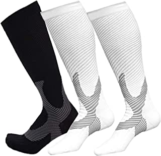 Compression Socks for Men&Women Knee High Sockings Fit For Athletic and Travel