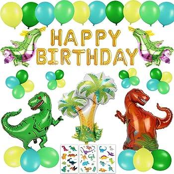 Happy Life 63 Stück Dinosaurier Geburtstag Deko Set für