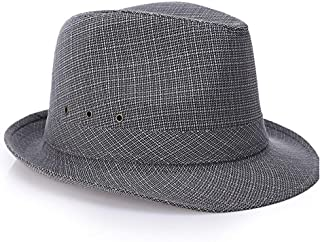 Sunhat Sun Hat Fashion Ladies Men's Fedora Hat Top Hat Spring and Autumn Felt Hat Gentleman Male Hat Jazz Hat Cloth Hat (Color : Gray, Size : 56-58cm)