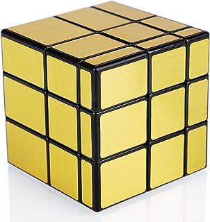 Maomaoyu Mirror Cube 3x3 3x3x3 Miroir Magique Speed Magic Cube Puzzle Ultra Rapide (Doré)