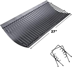 Uniflasy 27 Inches Ash Pan/Drip Pan for Chargriller 1224, 1324, 2121, 2222, 2727, 2828, 2929 Charcoal Grills, Charbroil 17302056 Grill Grates Replacement Part with 2pcs Fire Grate Hanger