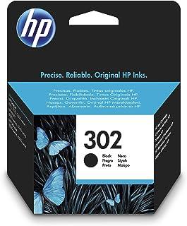 HP 302 F6U66AE Negro, Cartucho Original, de 190 páginas, para impresoras HP Deskjet serie 1110, 2100, 3600; HP ENVY 4500 y...