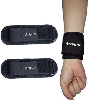 Artyunt 2 PACK مچ بند و فشرده سازی مچ بند مچ ورزشی پشتیبانی از مچ برای تناسب اندام ، وزنه برداری ، التهاب التهاب مفصل ، آرتروز تونل کارپ ، تسکین درد مچ دست - پوشیدن هرجای دیگر - تک جنسیت ، قابل تنظیم