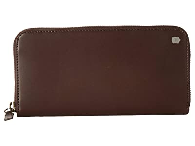 Victorinox Altius Edge Turing Zippered Deluxe Clutch Wallet w/ RFID (Dark Earth Leather) Bi-fold Wallet
