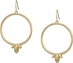 Trefoil Hoop Drop Earrings