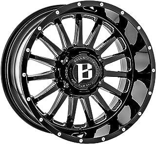 Ballistic 959 Rage 20x10 8x165.1//8x170-19mm Black//Milled Wheel Rim