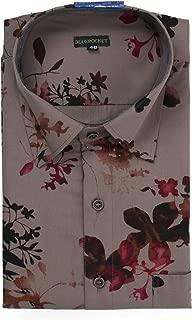 BLUEPOCKET Printed Shirt for Men. Casual, Cotton, Regular Fit, Rounded Hemlines