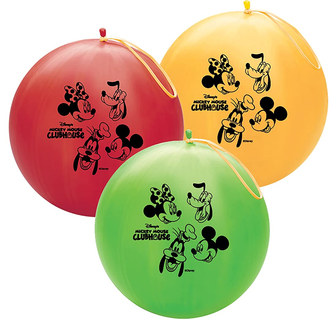 Qualatex 78702 Officially Licensed Disney Latex Punchball Balloon, 1-Count, Mickey & Pals Assorted Colors