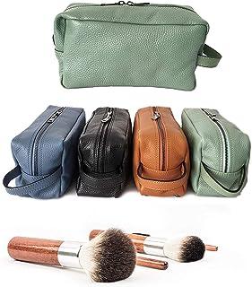 Ganza Roma Pochette Beauty case da viaggio in vera pelle verde uomo donna Modello Tommy Handmade