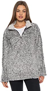 Frosty Tipped Pile 1/4 Zip Stadium Pullover