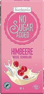 frankonia CHOCOLAT NO SUGAR ADDED Weiße Himbeere Schokolade glutenfrei, 85 g
