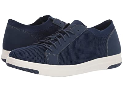 Dockers Franklin Smart Series Knit Sneaker with Smart 360 Flex and NeverWet (Navy Knit/Nubuck) Men