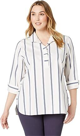 Plus Dora Non Iron Stripe Tunic