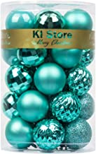 KI Store 34ct SMALL Christmas Baubles Ornaments Shatterproof Christmas Tree Decorations for Xmas Party Wedding Decor Ornam...