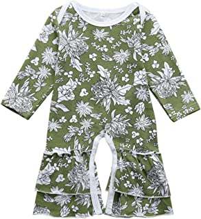5c0a22a8740 FEITONG Infant Baby Toddler Girls Long Sleeve Floral Print Ruffle Romper  Jumpsuit Outfits Clothes