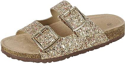 Best gem encrusted flat sandals Reviews