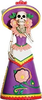 Dod Purple Senorita Mexican Traditional Skeleton Sculpture