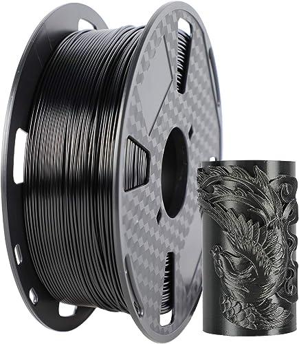 popular ORIENTOOLS wholesale PETG 3D Printer Filament 1.75mm, Dimensional Accuracy outlet online sale +/- 0.05 mm, 1kg Spool (2.2lbs), Fit Most FDM Printer, Black outlet sale