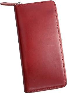 Dom Teporna Italy 長財布 本革 イタリアンレザー ラウンドファスナー 大容量なのに薄型 メンズ レディース 全6色