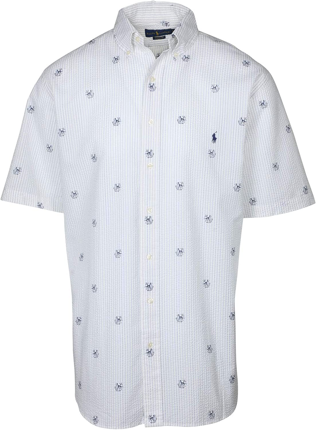 Polo RL Men's Big and Tall Classic Fit Dog Anchor Shirt