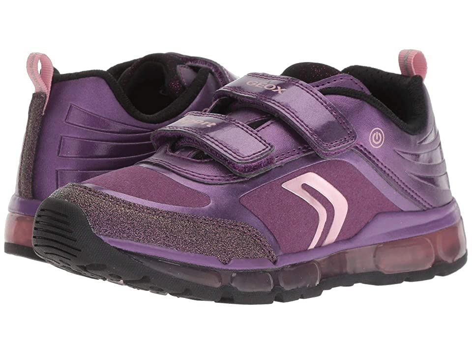 Geox Kids Android Girl 19 (Little Kid/Big Kid) (Purple/Black) Girl