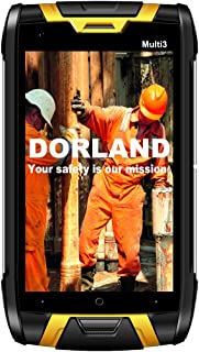 DORLAND Multi 3 Explosion-Proof Mobile Phone, IP68 Rugged Smartphone,Intrinsically Safe for Oil & Gas Industry and Hazardous Areas, 4G Android 5.1 Dual SIM GPS Navigation