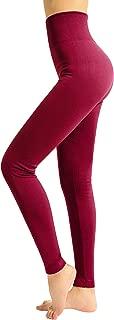 Womens Fleece Lined Leggings Full Length Soft Warm Basic Leggings for Winter