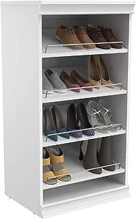 ClosetMaid 4566 Modular Closet Storage Stackable Shoe Shelf Unit, White