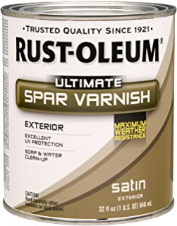 Rust-Oleum 260169 Ultimate Spar Varnish, Quart, Satin