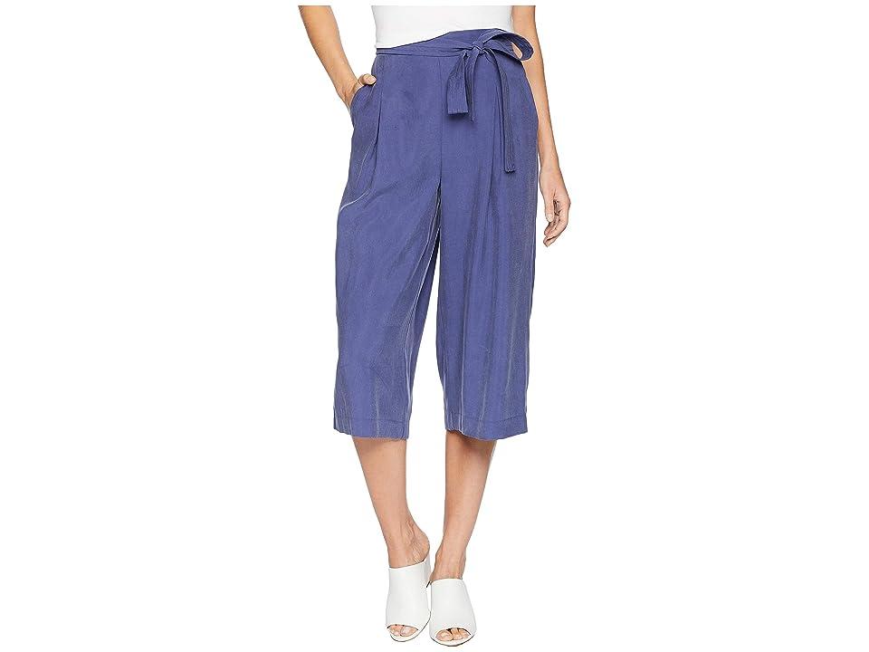 BCBGMAXAZRIA Self Belted Culotte Pants (Deep Cobalt) Women