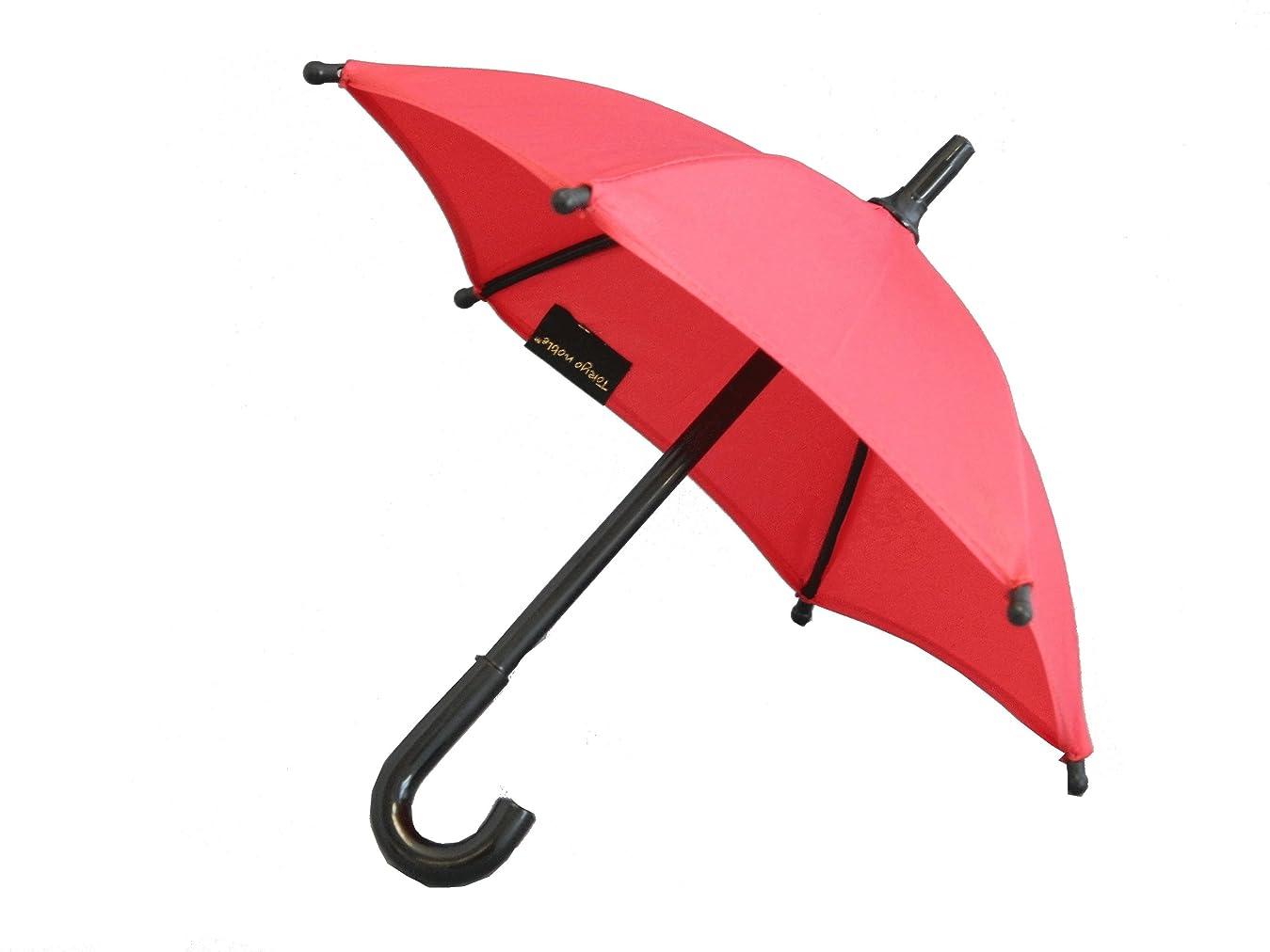 ホイップ義務付けられた赤字カラフルで可愛い! ミニチュア傘 インテリアやディスプレイ等に (赤)