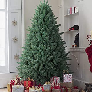 OasisCraft 9 Foot Christmas Tree, Full Premium HingedBlue Spruce Artificial Christmas Tree with Realistic 4668 Thicken Tips, Unlit