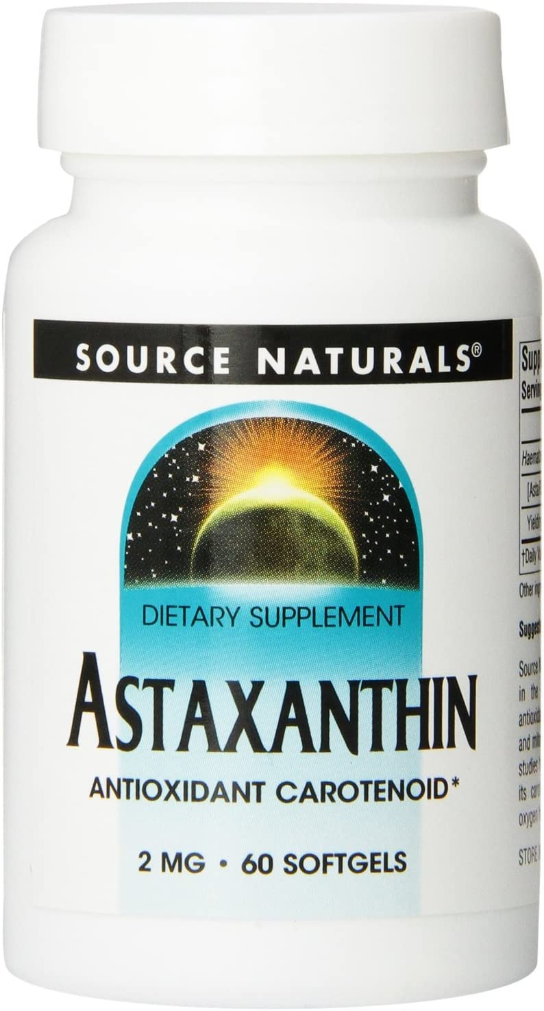 Max 40% OFF Price reduction Astaxanthin 2mg Source Naturals Inc. 60 Softgel