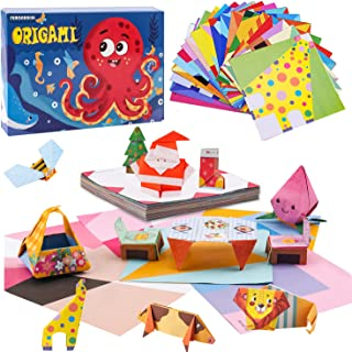 Toddler Learning Toys for 3 Year Olds Origami Paper for Kids educational toys for 4 year old Origami Kit for Kids Ages 8-1...