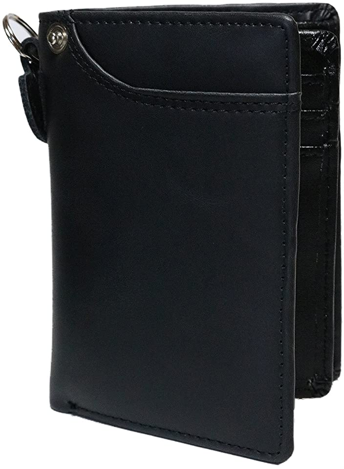 魅惑的な視聴者社員[Berkut] 【艶消し加工レザー】高級 本革 軽量 二つ折り財布 ファスナーなし コンパクト BOX付き 1030079