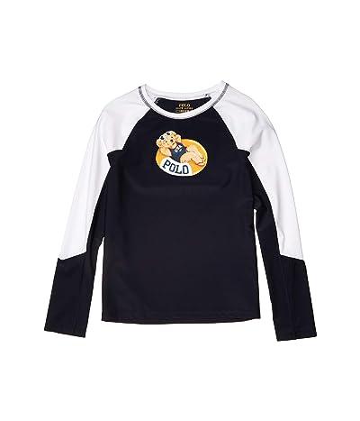 Polo Ralph Lauren Kids Pool Bear Stretch Rashguard (Little Kids/Big Kids) (Hunter Navy) Girl