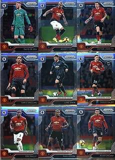 2019-20 Panini Prizm Premier League Soccer Manchester United Team Set of 18 Cards: David de Gea(#50), Ashley Young(#51), Victor Lindelof(#52), Chris Smalling(#53), Luke Shaw(#54), Diogo Dalot(#55), Eric Bailly(#56), Paul Pogba(#57), Jesse Lingard(#58), Phil Jones(#59), Nemanja Matic(#60), Scott McTominay(#61), Juan Mata(#62), Fred(#63), Andreas Pereira(#64), Marcus Rashford(#65), Alexis Sanchez(#66), Anthony Martial(#67)